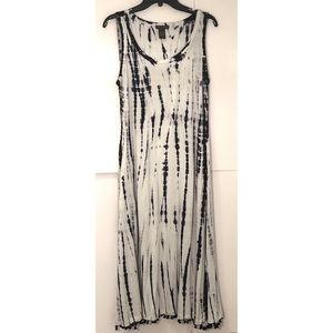 CHELSEA & THEODORE navy tie dye maxi dress